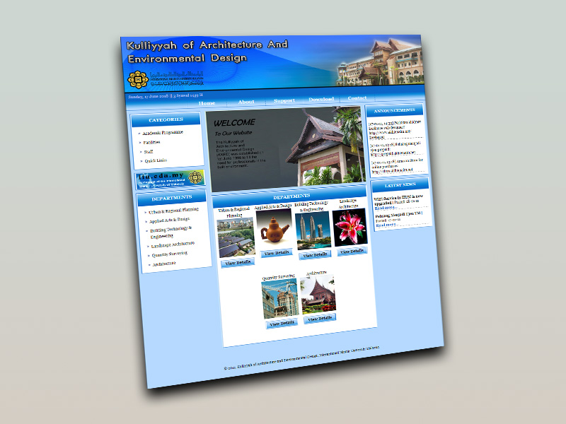 university faculty website
