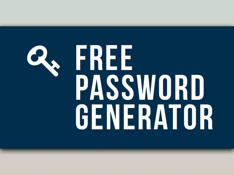 free online password generator
