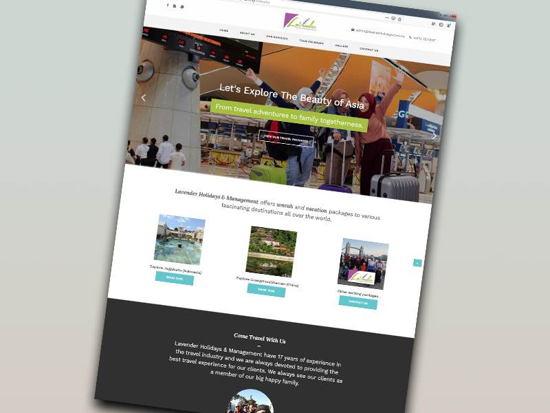 Lavender Holidays & Management website