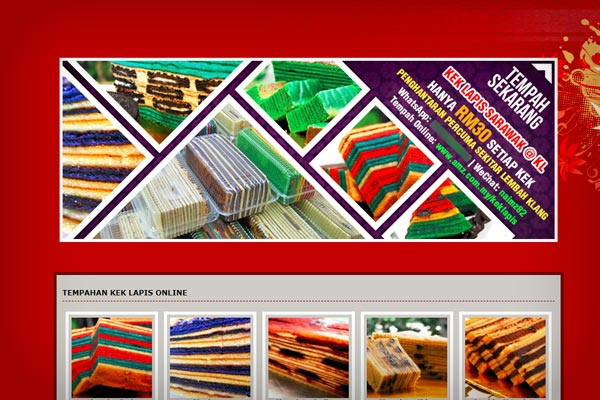 Kek Lapis Online Order Website by AMZ IT Solutions