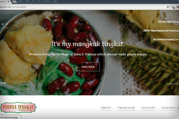 Nyonya Tingkat Website by AMZ IT Solutions